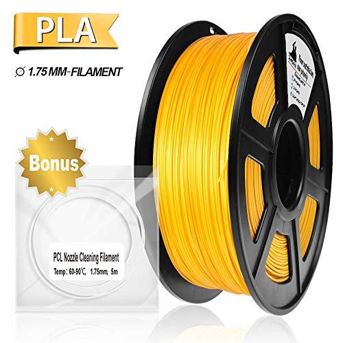 PLA Filament, 3D Hero PLA Filament 1.75mm,PLA 3D Printer Filament, 3D Printing Materials, Dimensional Accuracy +/- 0.02 mm, 2.2 LBS(1kg),1.75mm Filament,Metal Filled Gold