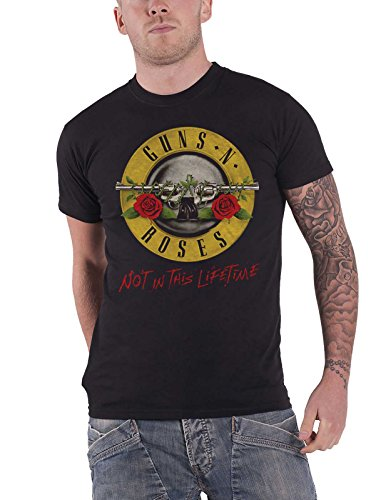 Guns N Roses T Shirt Not in This Lifetime Tour Band Logo Official Mens Black