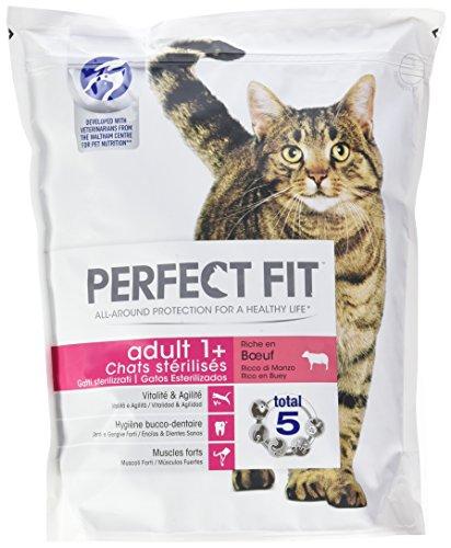 Perfect fit adulto sterilise–crocchette al manzo per gatto 1,4kg–set di 4(5,6kg)