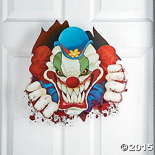 Deluxe groß Evil Scary Terror Big Top Clown Fenster Selbst 45,7x ()