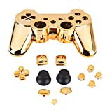 #5: Alcoa Prime 1pcs Gold Plated Chrome Shell Mod Kit + Matching Buttons set For PS3 Controller shipping