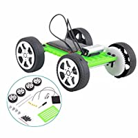 Xshuai Self Assembly Car, 1 Set Mini Solar Powered Toy DIY Car Component Kit Children Educational Gadget Hobby Funny Toy