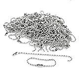 100 Catene PCS Argento Perle Palla Con Accessori Catenella Connettore In Metallo Regolabile A Sospensione Connettore Chiusure Catena Chiave Tag Monili Che Fanno