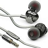 langsdom® In Ear Kopfhörer mit Mikrofon für iOS und Android in spacegrau