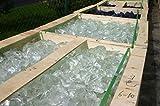 Steingrau Glasbrocken Glassplitt Dekoglas Gabionen Korngrößen 120-200mm glasklar 20 kg