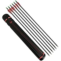 12Pcs 80cmTir à l'arc Flèches de carbone avec Quiver Spine 500
