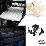 Sinbide - Materasso Gonfiabile per Auto, Pieghevole, Multifunzione, 3 Colori + 2 Cuscini + Pompa, Crema