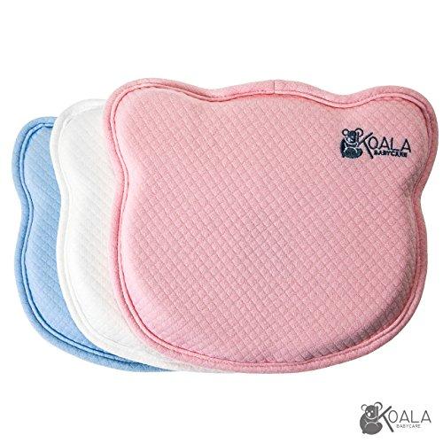 Cuscino Ortopedico sfoderabile (doppia federa) per Neonato Previene / Cura Plagiocefalia (Testa Piatta) | Guanciale Cervicale Antisoffoco Ipoallergenico, per lettino, ovetto, sdraietta, culla e fasciatoio. Rosa.