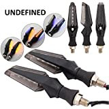 Delhitraderss 4pc Motorcycle Bike 12 LED Turn Signal Indicator Light Dual Color Blue and Amber For-TVS Apache RTR 160