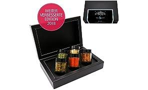 Hallingers Gewürz-Set Königlich bayrisches BBQ - perfektes Geschenk für Männer - Edition 2018 | Set/Mix | 5x Miniglas in MiniDeluxe-Box | 95g