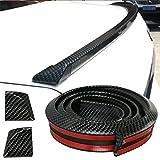 GOGOLO Brillante JDM 4.9ft / 150cm Universal EPDM caucho Tronco Car techo trasero tira de alerón tira para SUV parachoques parachoques labio, 100% de protección impermeable, negro