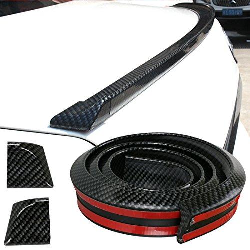 GOGOLO Glossy JDM 4.9ft / 150CM Universal EPDM Gummi Kofferraum Auto Hintere Dach Lippe Spoiler Streifen für SUV Hinten Stoßfänger Lippe, 100% wasserdicht Schutz, schwarz