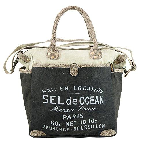 Sunsa Damen Vintage Tasche Handtasche Schultertasche Wochenendtasche aus Canvas/ Segeltuch (Inspiriert Vintage Handtaschen)