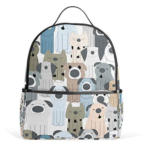 Orediy - Mochila Escolar para niños, diseño de Perro, Color Pastel