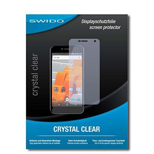 SWIDO Schutzfolie für Wileyfox Spark+ [2 Stück] Kristall-Klar, Hoher Härtegrad, Schutz vor Öl, Staub & Kratzer/Glasfolie, Bildschirmschutz, Bildschirmschutzfolie, Panzerglas-Folie