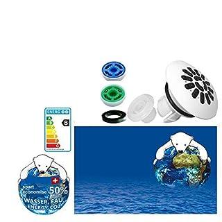 AquaClic Duschkopf-Zubehör zur SwissClima «Wow!»: Softspray-Aufsatz + 2 Regler