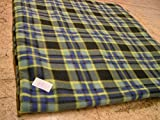 KosiPet® Luxury FLEECE Pet Dog Cat Bed Mat With Fibre Pad (MEDIUM, GREEN CHECK)