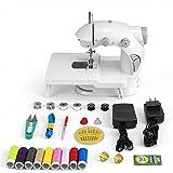 MEDELON Mini Nähmaschine, tragbare elektrische Nähmaschine mit Lampe und Fadenschneider, Fußpedal und Erweiterung Tabelle
