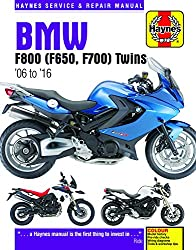 BMW F800 (F650, F700) Twins: '06 to '16 (Haynes Service and Repair Manual)