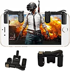 Pinaca Gaming Trigger Mobile Game Controller | Shooter Trigger Fire Button For Pubg (Black)