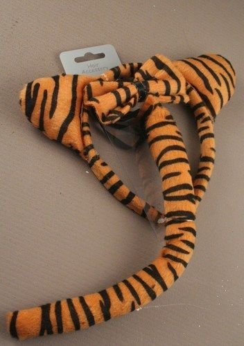 Tiger Dress Up Set with Aliceband / elastic Bow and - Tiger Tail Kostüm Zubehör
