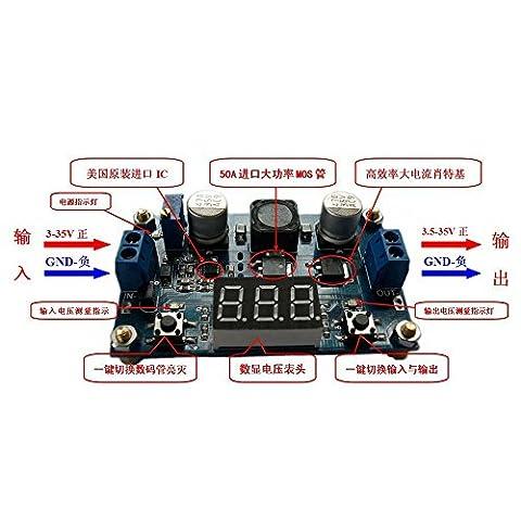 SUNLEPHANT@DC-DC high-power 100W adjustable step-up module 3.0 ~ 35V l 3.5 ~ 35V with a digital voltmeter
