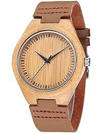 iMing Fait main montres en bois naturel à la main bois de bois montres cadeaux