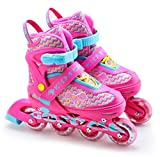 The Magic Toy Shop Childrens Kids Boys Girls 4 Wheel Adjustable Inline Skates