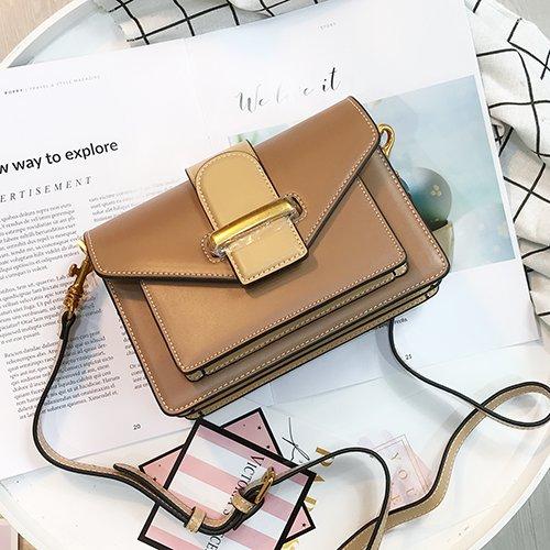 Burenqi@ Orgel/paste Farbe lineare Rampe/Kleine Pakete/Frauen/single Schultertasche/Postbote Taschen/kleine quadratische Paket, Licht brauner Zucker