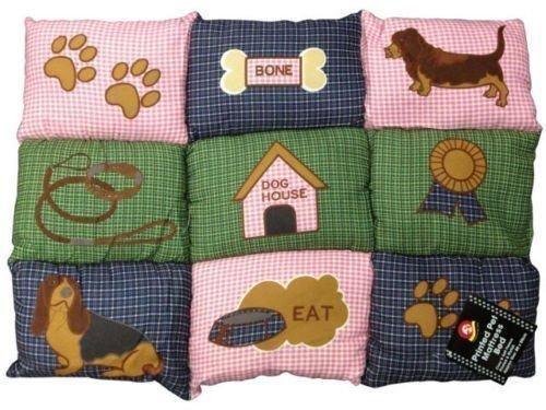 Große Luxus gedrucktes Entspannende Cat Hundebett Fleece Pet Matratze waschbar Weich Warm