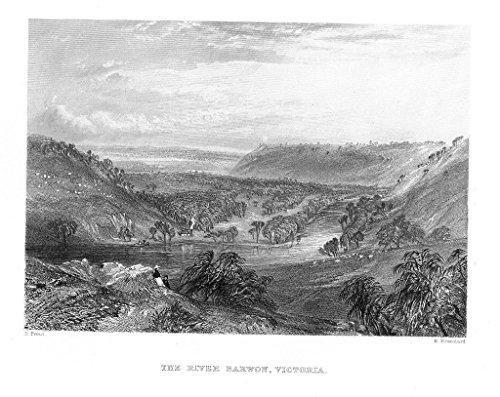 barwon-river-victoria-australia-australien-steel-engraving-stahlstich