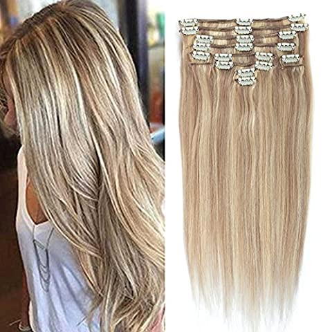 Fairgreat Remy Human Hair Clip in Hair Extensions Real Human