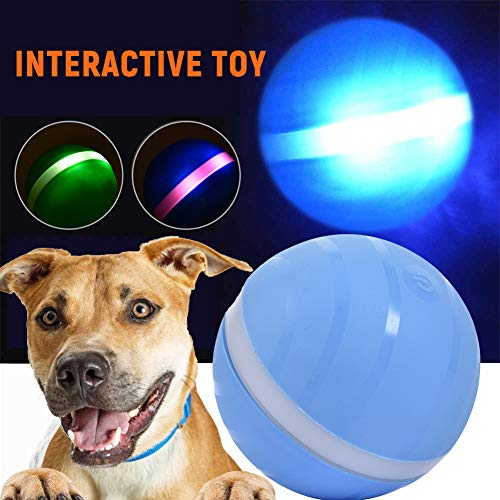 TODAYTOP Wicked Ball Pet Spielzeug Jumping Ball USB Elektrische LED Rolling Flash Ball Spaß Automatische Hundespielzeug Interaktive Rollerball