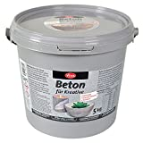 Viva Decor Beton für Kreative, grau, 5 kg, Synthetic Material, 20 x 20 x 17.8 cm
