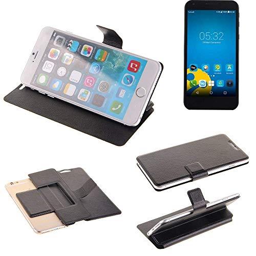 K-S-Trade® Schutz Hülle Für Vestel 5000 Dual-SIM Schutzhülle Flip Cover Handy Wallet Case Slim Handyhülle Bookstyle Schwarz