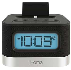 iHome iPL10 Stereo Weckuhr mit FM-Radio, Dual Ladestation (1xLightning, 1xUSB) für iPhone, iPad & iPod