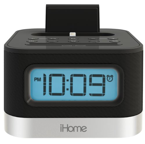 iHome Stereo FM Clock Radio with Lightning Dock for iPhone 5/5S and 6/6Plus
