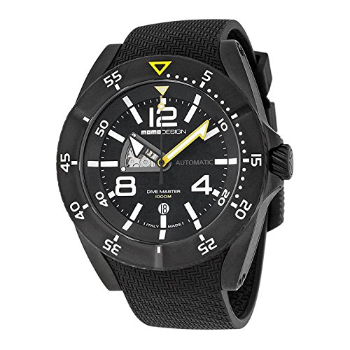 Uhr MOMO DESIGN HERREN md279bk-11Schalter Stahl Quandrante schwarz Armband Gummiarmband '