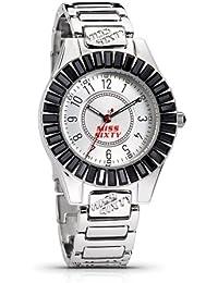 Miss Sixty SCY001 - Reloj de pulsera para mujer, blanco / plata
