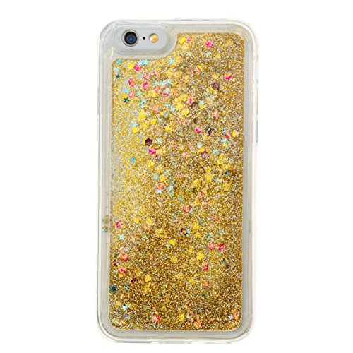 For iPhone 6 4.7[CUTE SPARKLING]Novelty Creative Liquid Glitter Design Liquid Quicksand Bling Adorable Flowing Floating Moving Shine Glitter Case -PURPLE EIFFEL GOLD