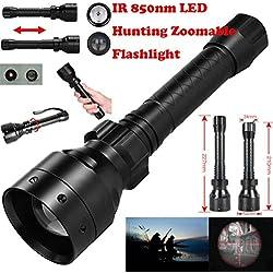Linternas,VENMO Largo alcance infrarrojos 10W ir 850nm T50 LED de caza luz noche visión antorcha 18650