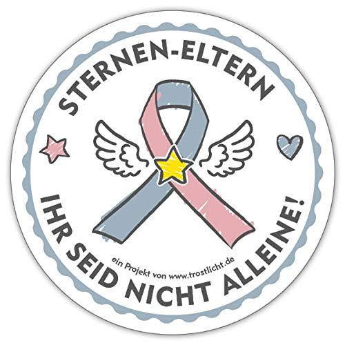 Sticker Sternen-Eltern Ihr seid Nicht alleine | für Eltern eines Sternenkindes & Angehörige | Aufkleber Outdoor | Awareness Ribbon ()