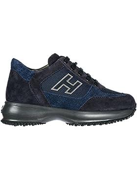 Hogan Zapatos Zapatillas de Deporte Niño EN Ante Nuevo Interactive h Flock Blu