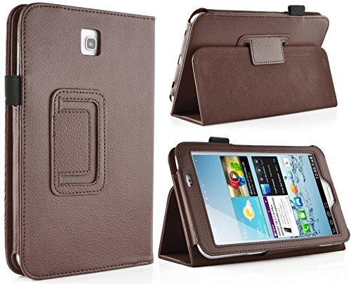 JAMMYLIZARD | Hülle für [ Samsung Galaxy Tab 3 7.0 ] Ledertasche mit Magnetverschluss, BRAUN