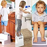 AZOD 2 Step Stool for Kids | Toddler Stool for Toilet Potty Training