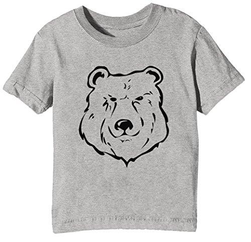 Kinder Unisex Jungen Mädchen T-Shirt Rundhals Grau Kurzarm Größe XL Kids Boys Girls Grey X-Large Size XL (Wütend Baby-gesicht)