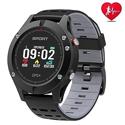 DTNO.I Orologio intelligente, Orologio sportivo con altimetro/barometro / termometro e GPS integrato, tracker fitness per per uomini, donne e avventuriero.