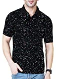 Veirdo Men's Cotton T-shirt (Black, Medium)