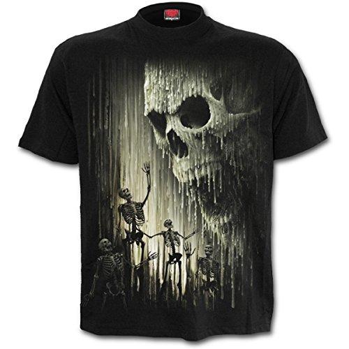 Spiral Waxed Skull T-Shirt schwarz Schwarz
