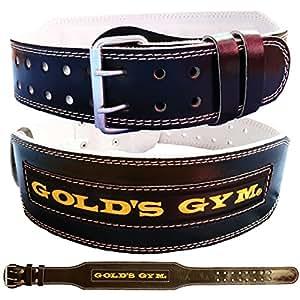 Golds Gym GG-G3723 Ceinture lombaire en cuir Taille M Largeur 10 cm